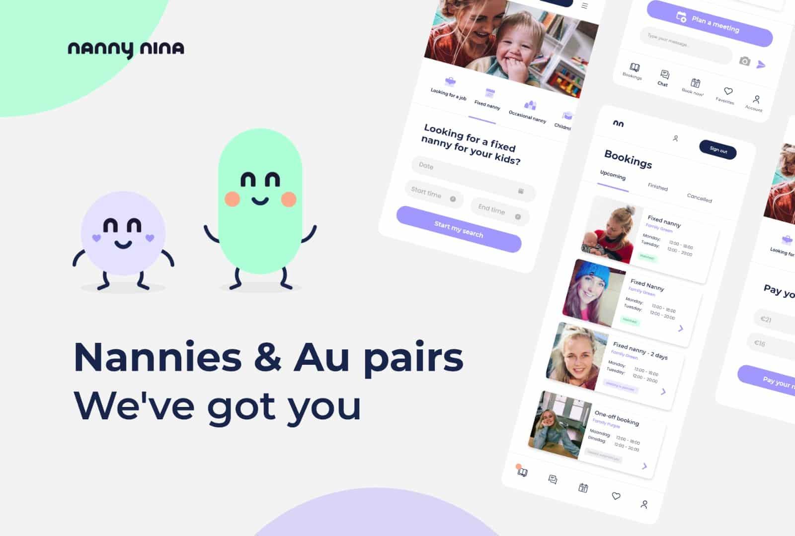 english babysitting app nanny nina